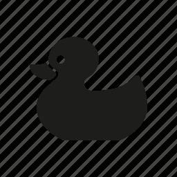 children, duck, rubber duck, rubber toy, toy icon