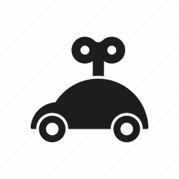 car, children, key, toy, wind-up car, wind-up toy icon