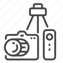camera, devices, remote, solo, traveler, traveller, tripod icon