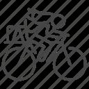 bicycle, biking, cycling, solo, tour, transport, traveler icon