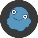 blob, blue, cute, fun, happy, monster icon