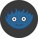 blue, cute, flame, fluff, fun, happy, monster icon