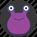 cute, eyes, fun, happy, monster, purple, two icon