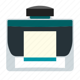 ink, inkstand, inkwell, office icon