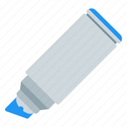 blue, marker, office, selection icon