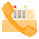 call, communication, office, phone, talk, telephone icon