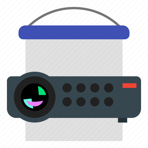 media, office, presentation, projector icon