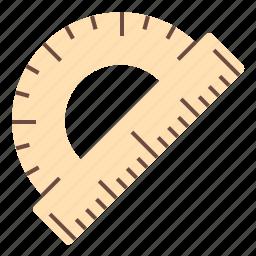 design, office, protractor, tool, work icon
