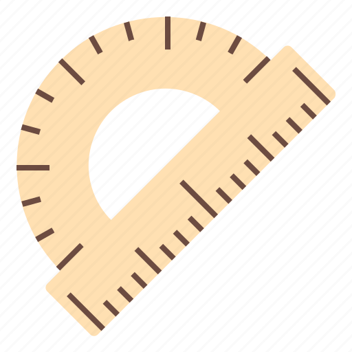 design, office, protractor, tool, work icon