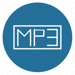 file, format, mp3, multimedia, music, player, type icon