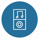 audio, equipment, mp3 player, mp4 player, music, player icon
