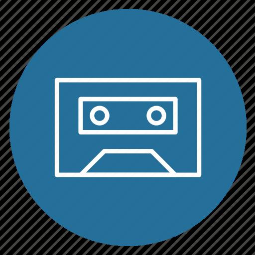 audio, cassette, multimedia, music, music cassette, note, recording icon
