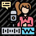 audio, mixing, recording, singing, studio icon