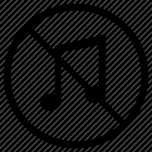 cancel, label, noise, sound, soundproof icon