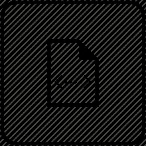 code, compile, listing, program, script icon