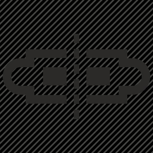 border, divide, separate, ticket icon