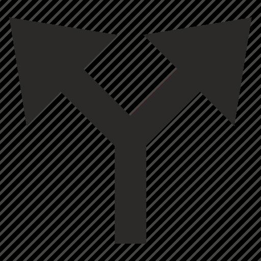 arrows, function, operation, split icon
