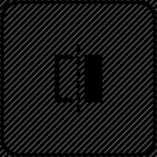 border, divide, line, separate, square icon