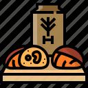bakery, bread, flour, sourdough, wheat, whole