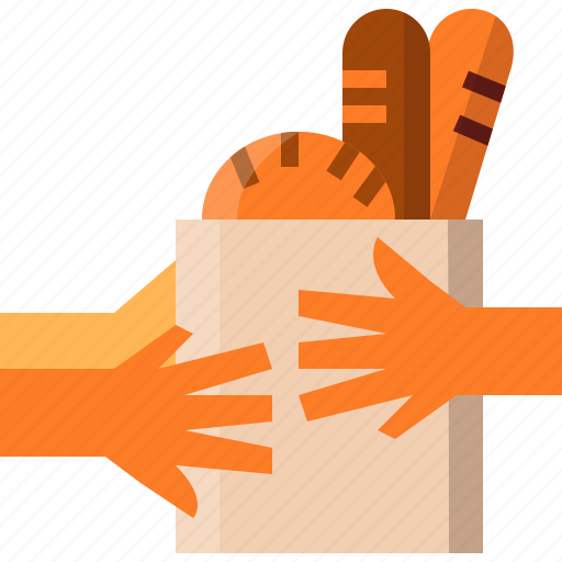 Bag, bread, buy, hand, shop, shopping, store icon - Download on Iconfinder