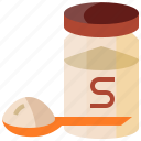 jar, salt, spoon icon