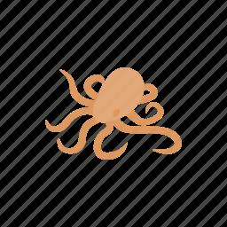 animal, isometric, nature, ocean, octopus, sea, tentacle icon