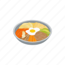 asian, cuisine, dish, food, isometric, korean, restaurant icon