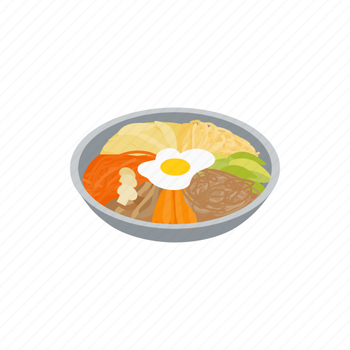 Asian, cuisine, dish, food, isometric, korean, restaurant icon - Download on Iconfinder