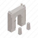 architecture, building, construction, design, fortress, isometric, wall icon