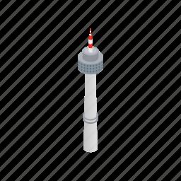 architecture, asia, building, isometric, korea, seoul, tower icon