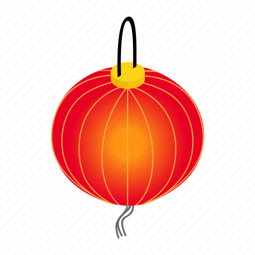 chinese, festival, isometric, lantern, light, paper, traditional icon