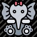 baby, children, doll, elephant, toy