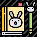 book, education, note, school, souvenir icon