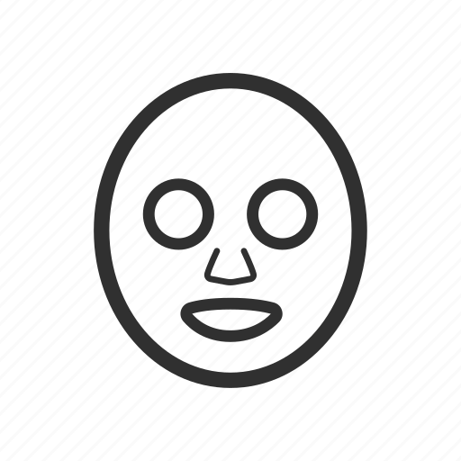 cartoon, illustration, line, masker, spa, thin, thin line icon