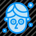 cucumber, facial, mask icon