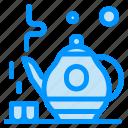 green, tea, teapot icon