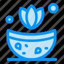 bath, herb, spa icon