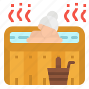 hot, pool, sauna, spa, treatment icon