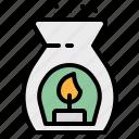 aroma, aromatherapy, essential, oil, spa icon