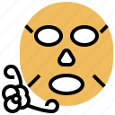 beauty, cosmetic, facial, mask, treatment icon