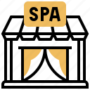 massage, resort, shop, sign, spa icon