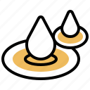 drop, effect, ripple, water, wave icon