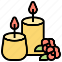 aroma, candles, light, meditation, scent icon