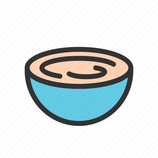 bowl, cream, food, glass, sour, taste, yoghurt icon