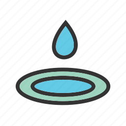 dew, drop, fresh, green, nature, rain, water icon