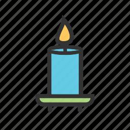 candle, candles, flame, light, shelf, spa, wax icon