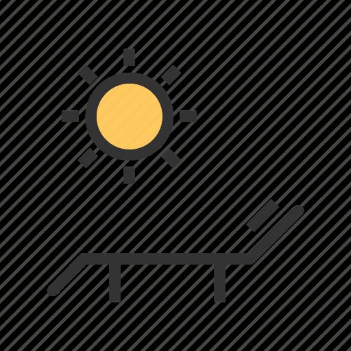 Beach, chair, heat, summer, sun, sun bathing, umbrella icon - Download on Iconfinder