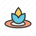 floating, flowers, lily, nature, pool, spa, water icon