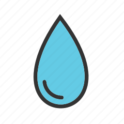 clean, drop, health, liquid, nature, rain, water icon