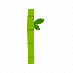bamboo, forest, green, leaves, natural, stick, tropical icon